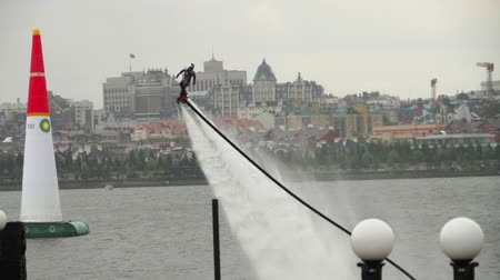 jet ski : Performing aerobatic at flyboard