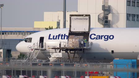 lufthansa : Airfreighter near cargo terminal