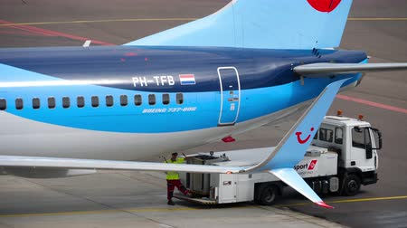 amszterdam : TUI Fly Boeing 737 taxiing ends