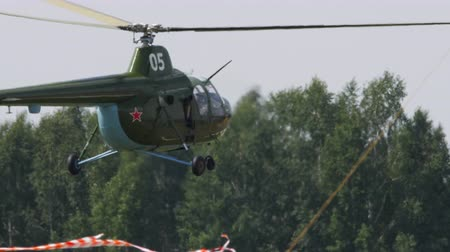 летчик : Vintage Helicopter Mi-1 performance aerobatics