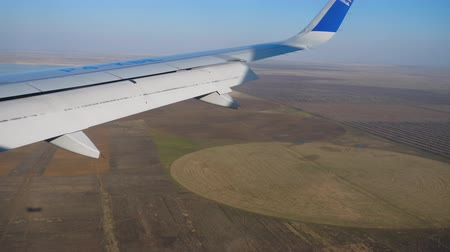 astana : Aerial view from descending airplane Stock Footage