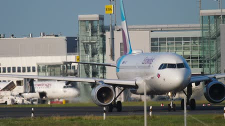 dusseldorf : Airplane taxiing to the start