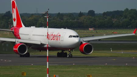 lowcost : Airberlin Airbus 330 taxiing Stock Footage