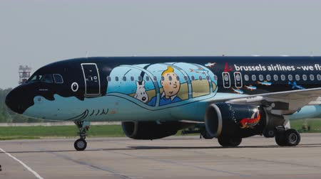 tow : Special livery Airbus A320 Brussels Airlines
