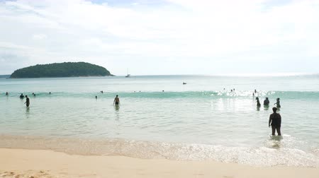 プーケット : Nai Harn beach, south of Phuket Island 動画素材
