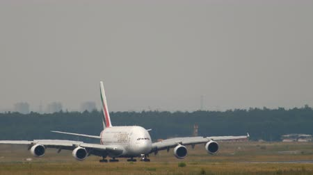 Emirates Airbus 380 taxiing