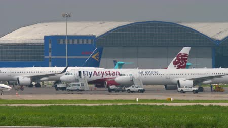 Airplanes in Almaty International Airport
