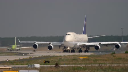 Cargo Airplane taxiing in Frankfurt