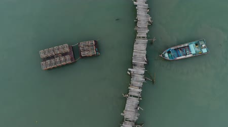 fishermen : Top Down View Of Fisherman Jetty at Jelutong, Penang