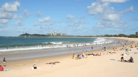 holiday makers : MOOLOOLABA, AUSTRALIA - January 14 2014: Mooloolaba is an iconic beach tourist resort township on the Sunshine Coast of Queensland. It is 90 km north of Brisbane and the beach is one of Queensland's premier national and international tourist destination