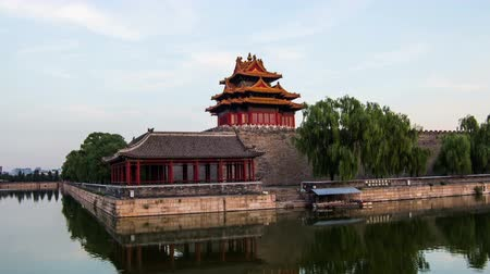 Пекин : From day to night, different view of Forbidden City, Beijing, China