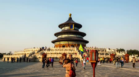 Пекин : Different view of the Qinian Palace in Temple of Heaven in Beijing, China