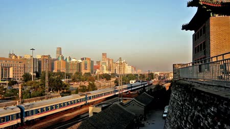 histórico : The ancient tower and the train, Beijing, China