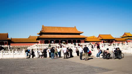 saray : Walking from east to west in Forbidden City, Beijing, China