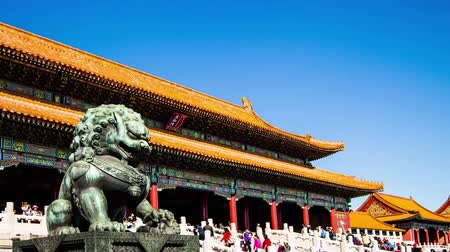 saray : The Copper lion Front of Forbidden City in Beijing, China