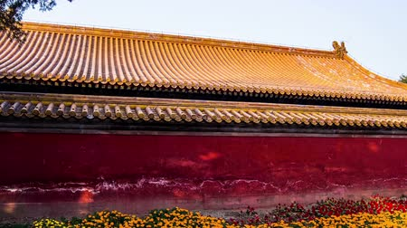 Пекин : The exterior of Hall and the flower bed in the Temple of Earth, Beijing, China