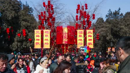ditan : Beijing,China-Feb 2, 2014: thousand of people visit the temple fair at Ditan Park during Chinese Spring Festival in Beijing, China