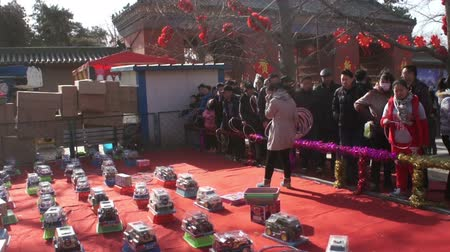 ditan : Beijing,China-Feb 2, 2014: People play games for winning prizes at temple fair in Ditan Park during Chinese Spring Festival in Beijing, China