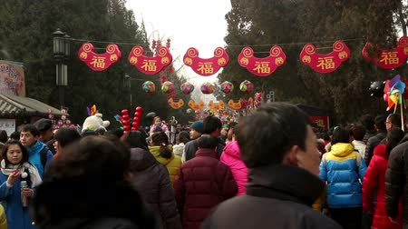 ditan : Beijing,China-Feb 6, 2014: Most of visitors holding toys at Ditan temple fair during Spring Festival in Beijing, China