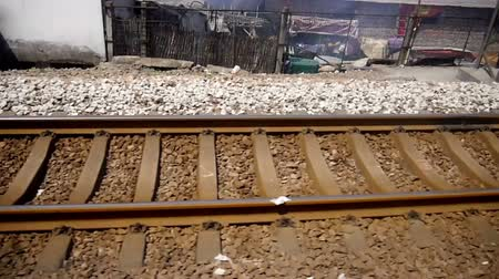 kolej : The railway and environment near train station in China Wideo