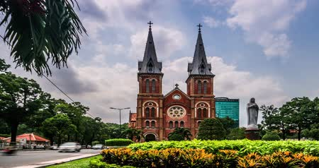 catedral : The world famous Notre-Dame cathedral in Ho chi minh city, Vietnam