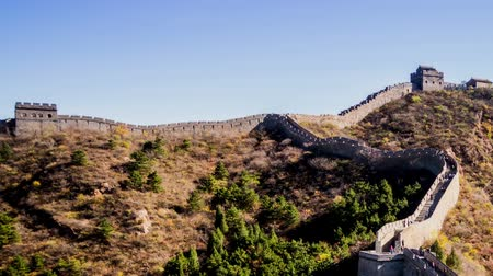 difese immunitarie : Pechino, Cina-ottobre 26,2014: Different view di Jinshanling Great Wall, Pechino, Cina Filmati Stock