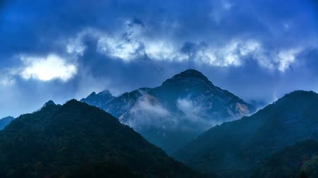 peak : The amazing cloud among Dabie Mountain in Hubei Province, China