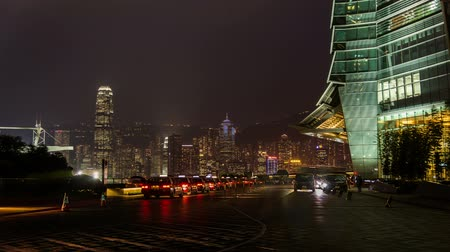 icc : Hong Kong,China-Nov 13,2014: The traffic outside of the International Commerce Center in Hong Kong,China