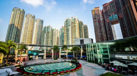 icc : Hong Kong,China-Nov 16,2014: The buildings in International Commerce Center in Hong Kong,China Stock Footage