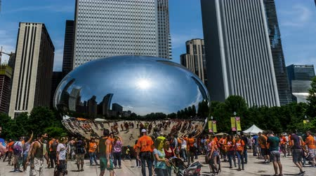 rueda de chicago : Cloud Gate en Millennium Park, Chicago, EE.UU.