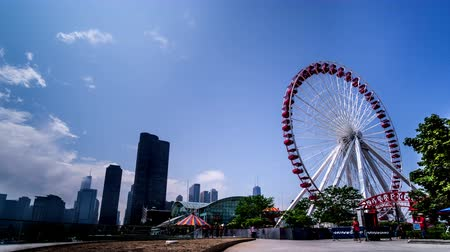 navy pier : The Ferris Wheel near Navy Pier, Chicago, USA