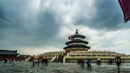 imparator : The Qinian Hall in the Heaven of Temple park of Beijing, China. Stok Video