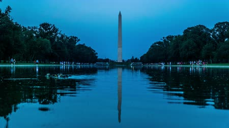 gránit : From sunset to night, the visitors and the Obelisk, Washington, USA