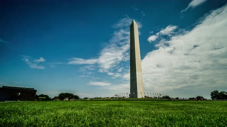 freedom tower : At sunny day, the visitors and the Obelisk, Washington, USA