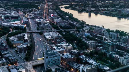 Бостон : Aerial view of the Boston from Prudential Center, Boston, USA