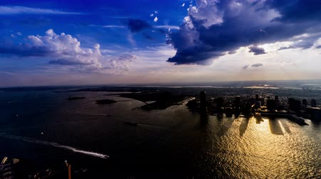 centrum : At sunset, aerial view of Jersey City, NJ, USA