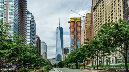 midtown : The One World Trade Center and the street view, New York City, NY Stock Footage