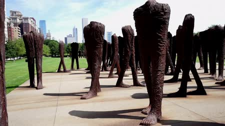 żelazko : Walking and seeing the famous sculptures at Grant Park, Chicago