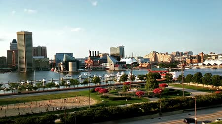 Észak amerika : The panoramic view of Inner Harbor from Federal Hill, Baltimore