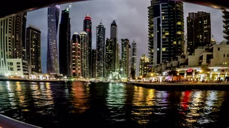cayan tower : Timelapse of the cityscape at Dubai Marina(Cayan Tower), UAE Stock Footage