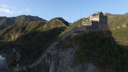 династия : The fabulous beacon tower of the Juyongguan Great Wall view from the sky