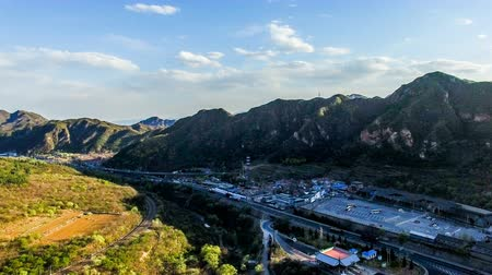династия : The fabulous scene of the Juyongguan Great Wall view from the sky