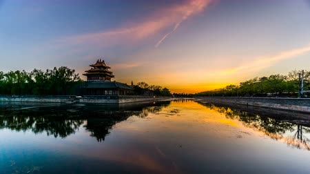 narożnik : Timelapse of the sunset at the Forbidden City, Beijing, China Wideo