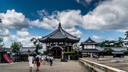 oryantal : Timelapse of the visitors wander at Kofukuji Temple in Nara, Japan Stok Video