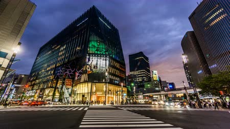 célere : Timelapse and bird view of the Ginza street view,Tokyo, Japan Vídeos
