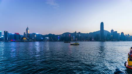 esplêndido : Timelapse of the splendid view at Victoria Harbour, Hong Kong, China