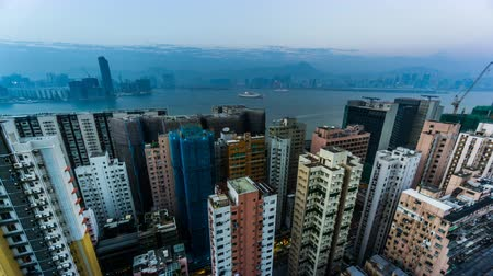 hong kong : Timelapse of the splendid cityscape, Hong Kong, China