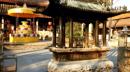 believer : Walking at the famous ancient Kaiyuan Temple, Chaozhou, China