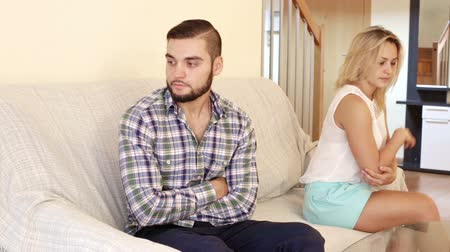 spite : Domestic quarrel between offended husband and wife indoors
