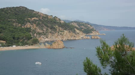 yazlık : Picturesque green coast of Costa Brava view at sunny day in summer